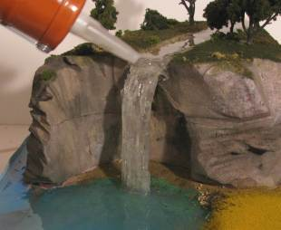 Видео как сделать водопад