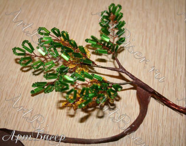 Бисерное дерево своими руками