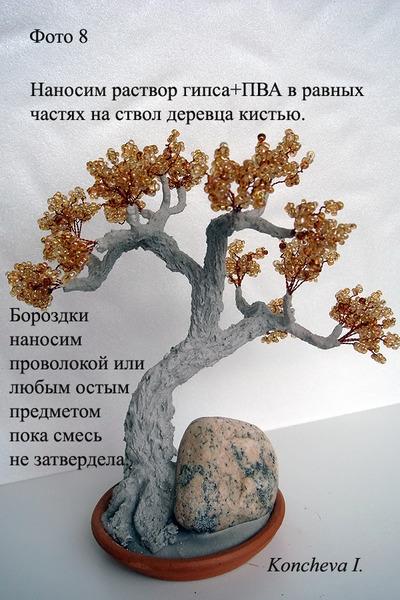 Мастер класс изготовлению дерева бисера