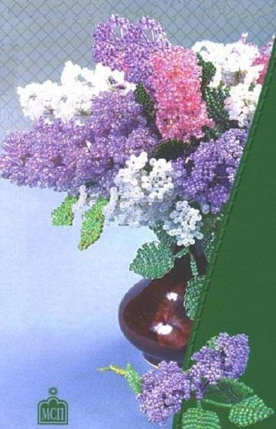 Схема цветы сирени из бисера