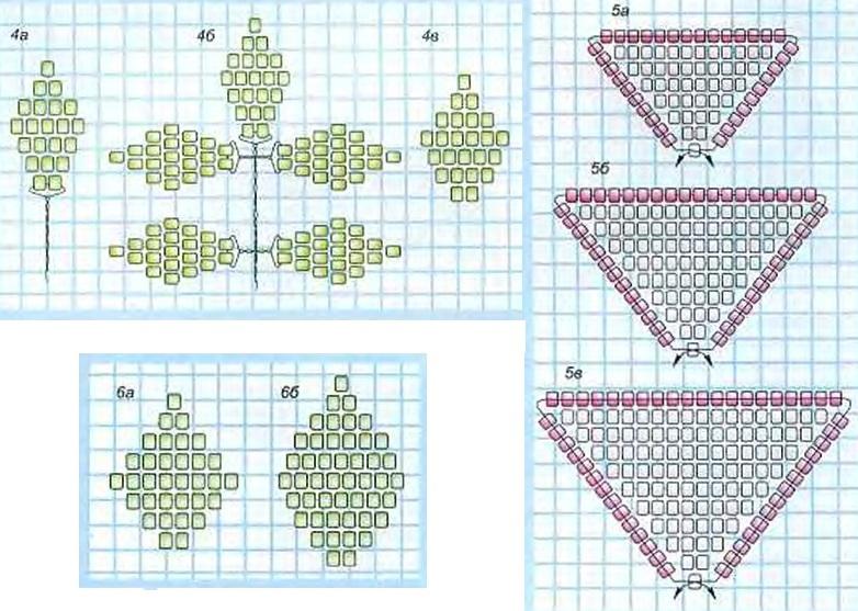 Плетение розы из бисера: схема
