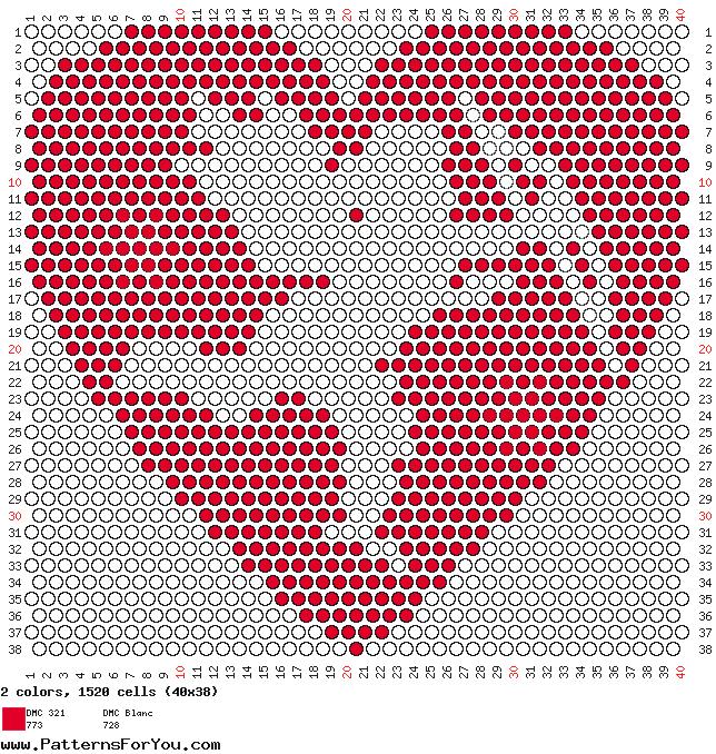 """Схема """"Сердце из бисера"""""""