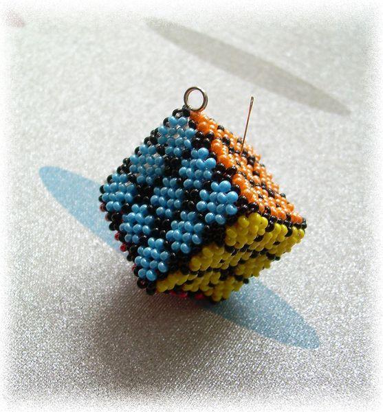 Схема кубик рубик из бисера