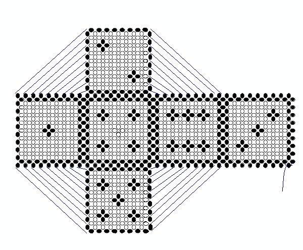 """Схема """"Игральный кубик из"""