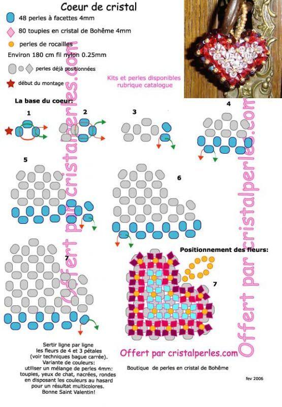 Схема сердечек с бисера