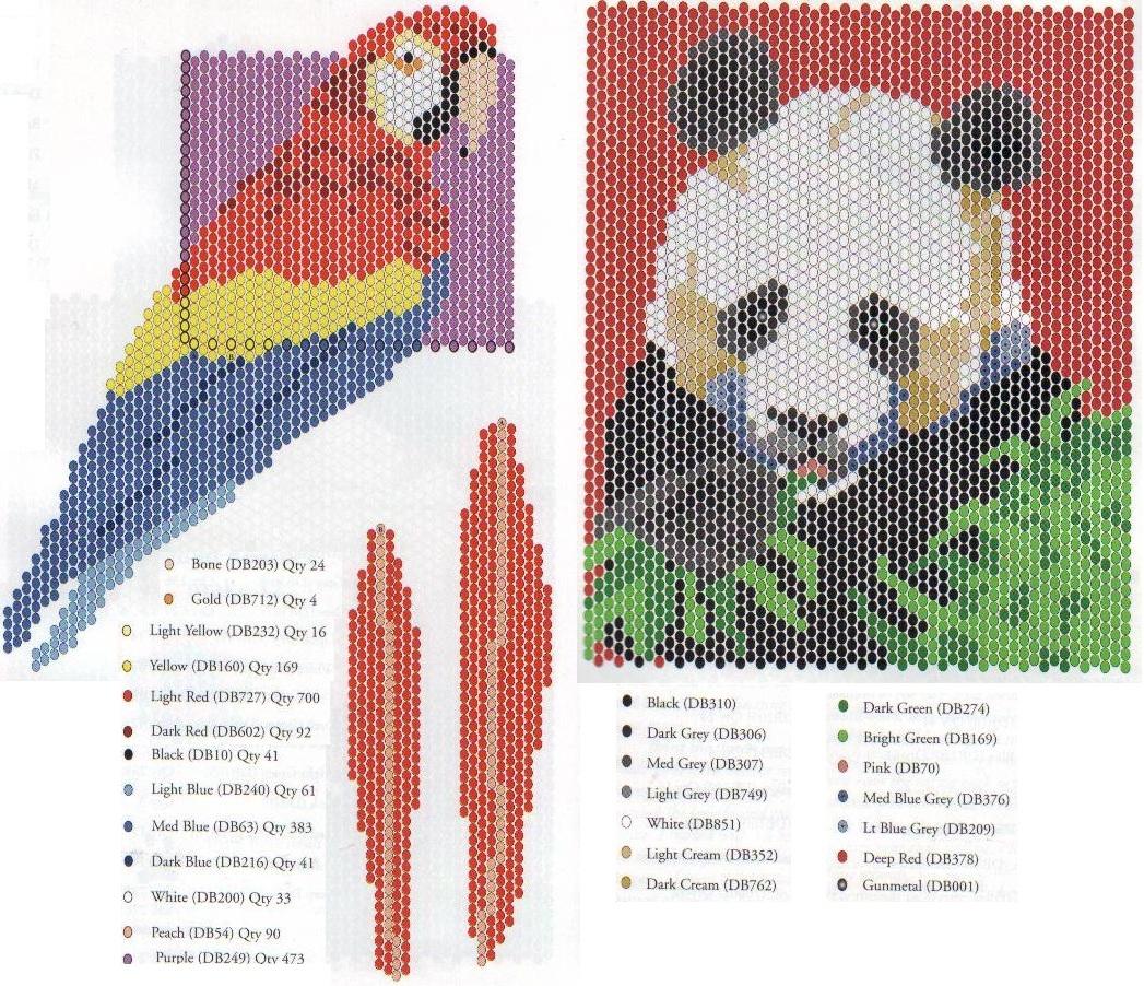 Картины из бисера схемы плетения