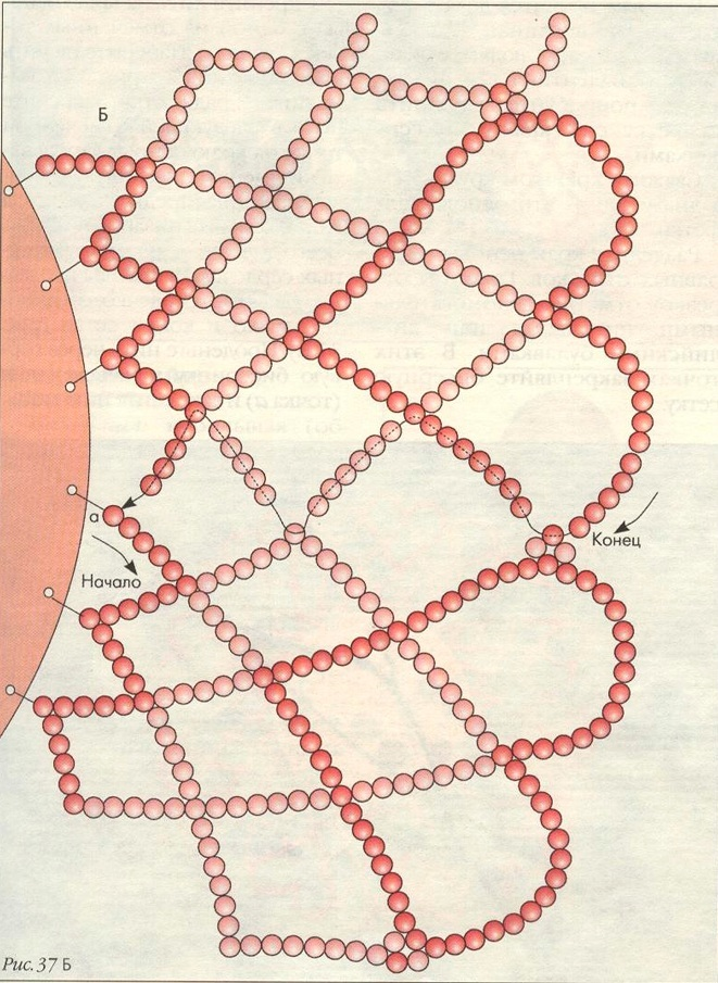 Бисероплетение схемы салфетка