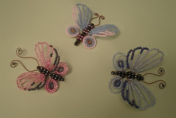Бабочку своими руками из бисера фото