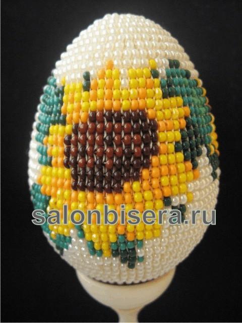 Пасхальные яйца из бисера: