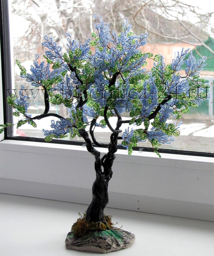 Получить. дерево сирень из бисера мастер классУрок по изготовлению дерева из бисера Подробности на сайте крону дерева...