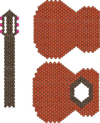 из бисера: схема плетения
