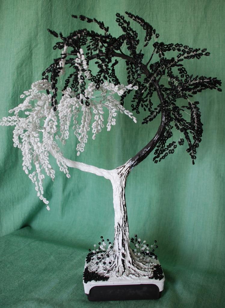 Дерево из бисера инь янь своими руками