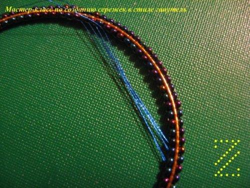 Серьги из бисера в кирпичном плетении схемы