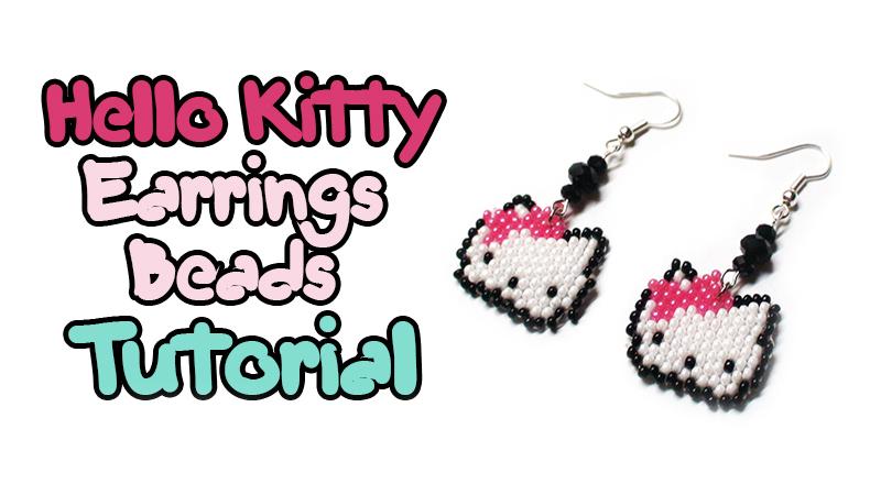 Серьги Hello Kitty