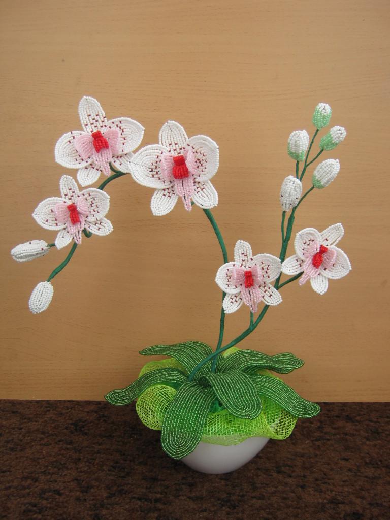 плетение орхидеи схема