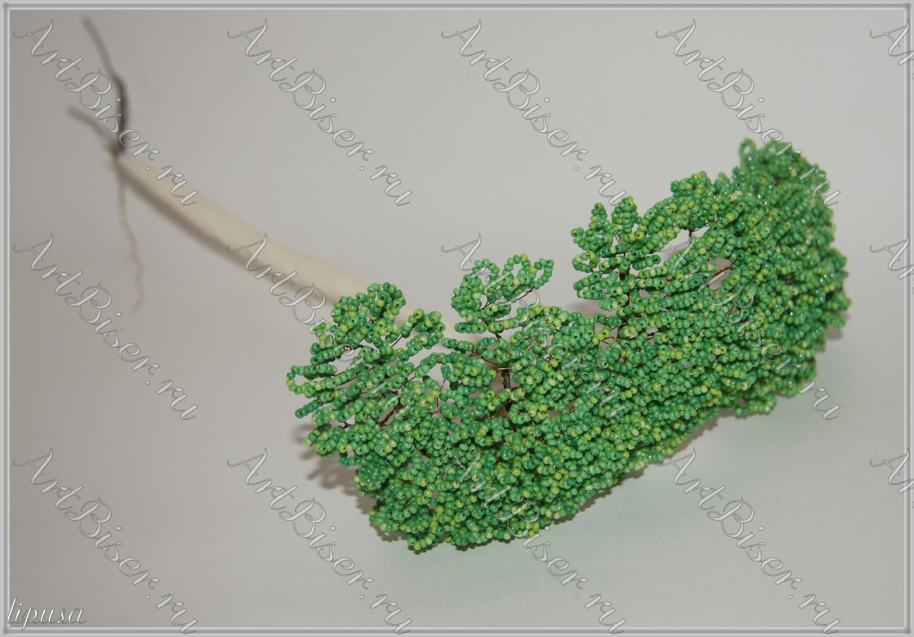 Плетение из бисера дуб.