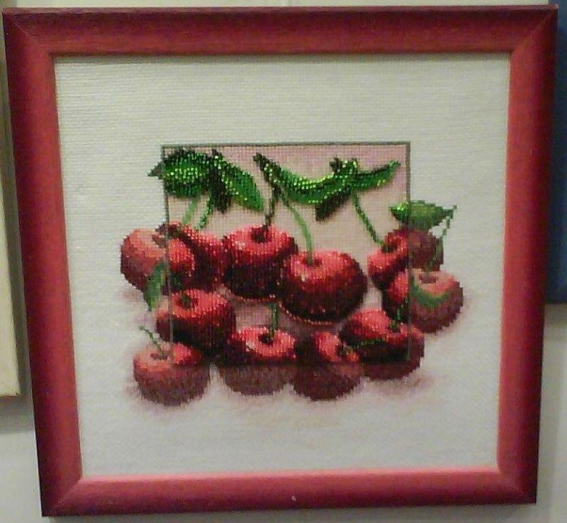 Схема вышивки вишня и