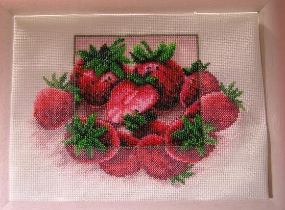 Схема вышивки клубника(вышивка